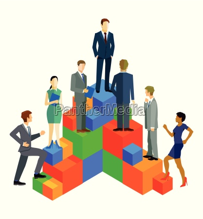 business people in the ascent