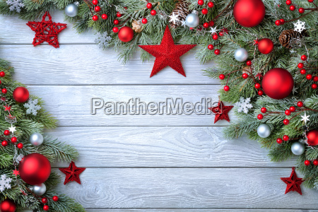 blue wood christmas background