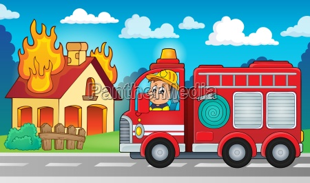 fire truck thema bild 5