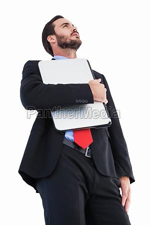 laptop notebook computer karriere freisteller maennlich