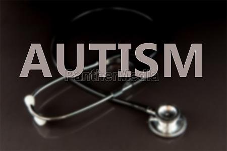 zusammengesetztes bild von autismus