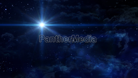 starry night blauen stern kreuz planeten