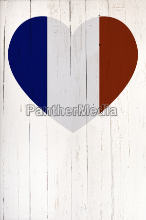 a french flag in heart shape