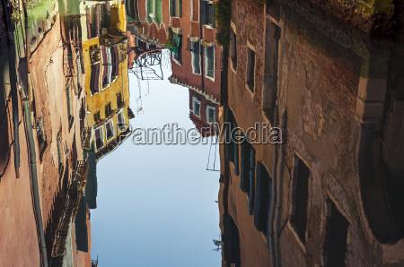 venedig reflexion reflektion spiegelbild baustil architektur