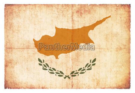 grunge flagge zypern