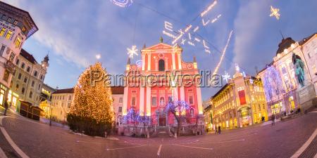 preseren39s square ljubljana slovenia europe