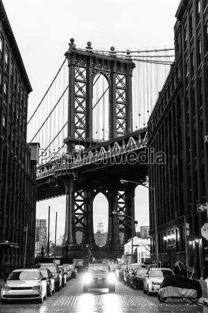 manhattan bridge new york city usa