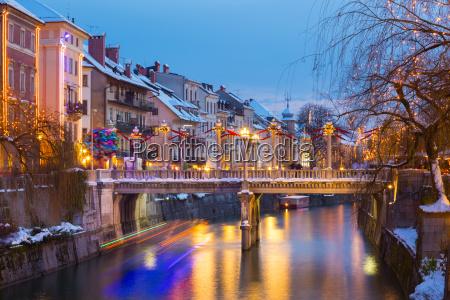 ljubljana in der weihnachtszeit slowenien europa