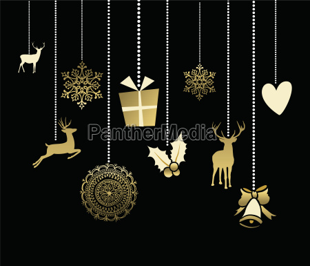 holiday christmas decoration cute deer gold