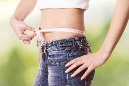 measuring perfect slim healthy fitness waist