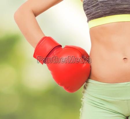 fitness slim sporty woman body