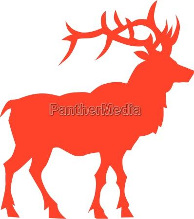 deer vektor silhouette