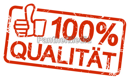 red stamp with text 100 qualitaet