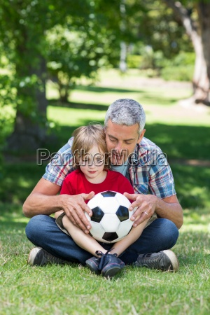 happy father with his son at