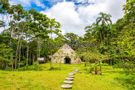 maloka lodge in a jungle