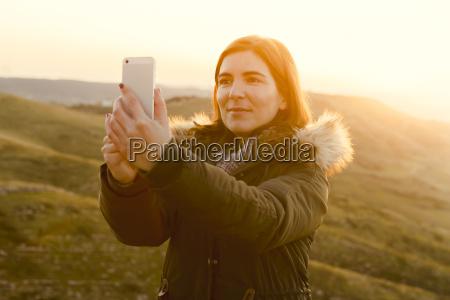 winter look selfie