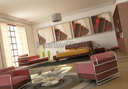 freiraum fuer moderne schlafzimmer wohnzimmer