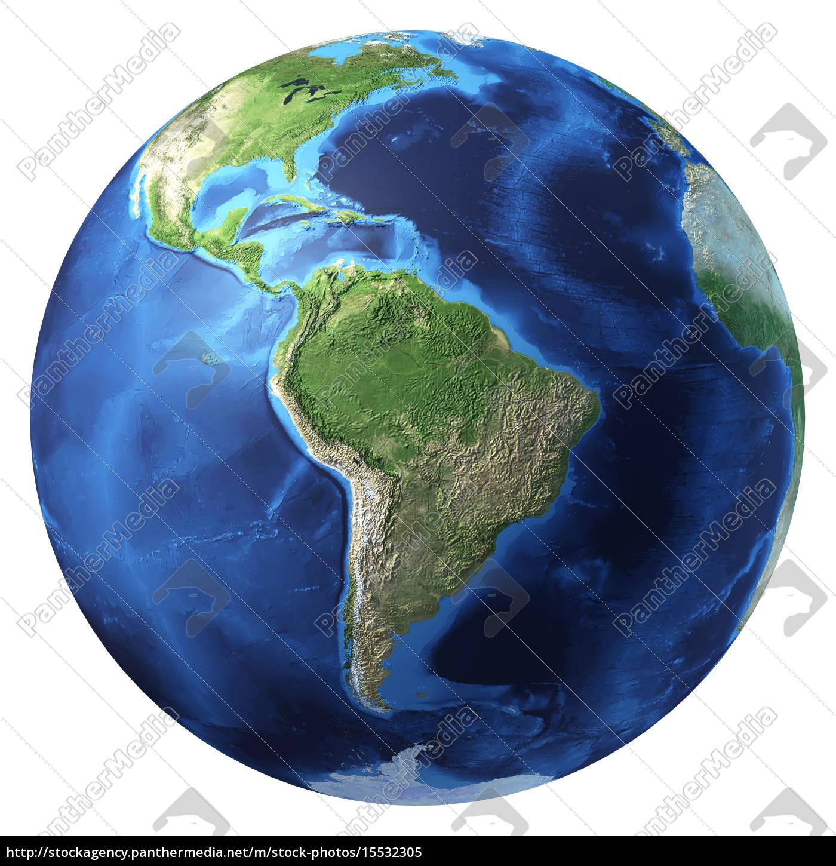 Attraktiv Weltkugel 3d Galerie Von Stockfoto 15532305 - Earth Realistische Rendering Südamerika