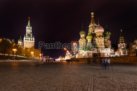 spasskaja turm des kreml und kathedrale