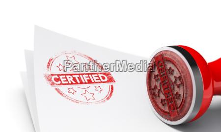 zertifizierter hintergrund
