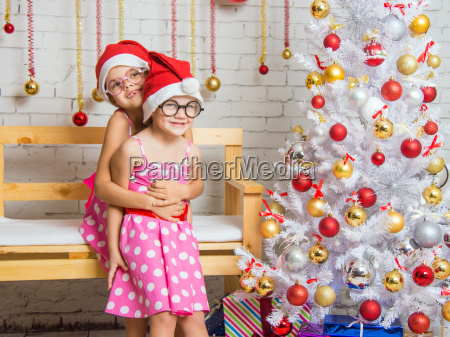 the girl hugged her sister back
