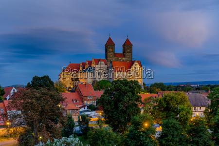 view of the castle of quedlinburg