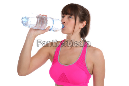 young fitness woman drinking sports workout