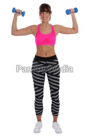fitness frau beim sport workout training