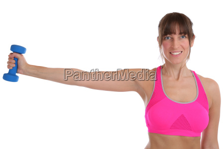 fitness workout young woman at sports