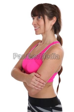 fitness workout frau beim sport training