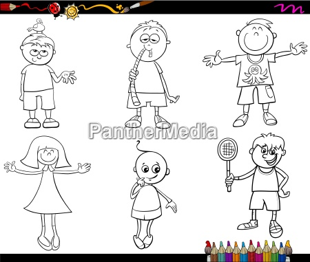 kids set coloring page