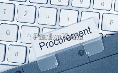 procurement folder in the office