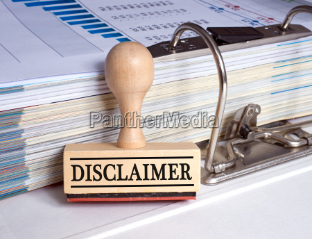 disclaimer rubber stamp in the