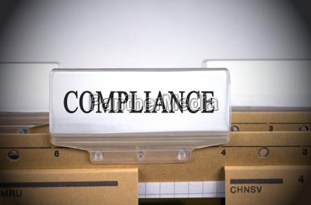 compliance ordner register index