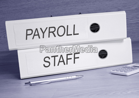 payroll and staff two binders