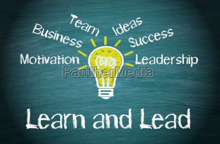 learn and lead business concept