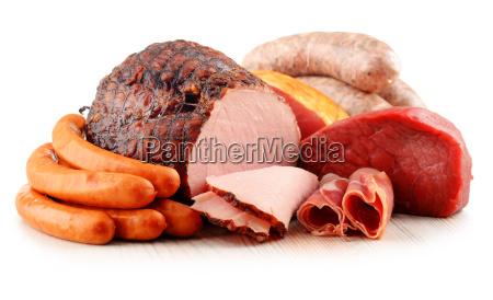 fleischerzeugnisse einschliesslich schinken und wurst isoliert