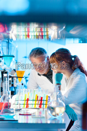 health care professionals in lab