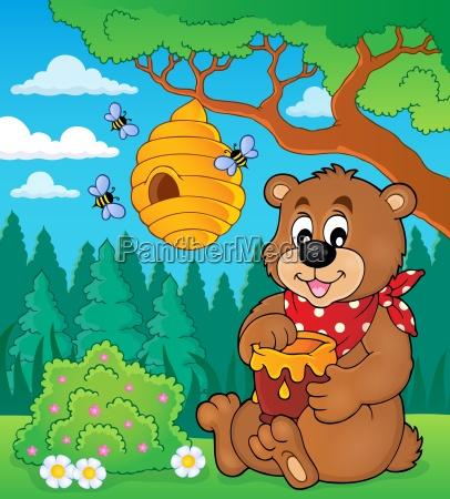 bear with honey theme image 2