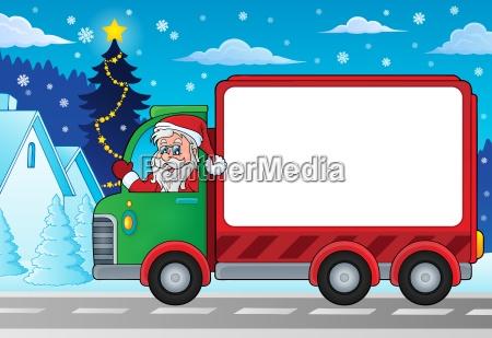 weihnachten thema lieferung auto bild 4