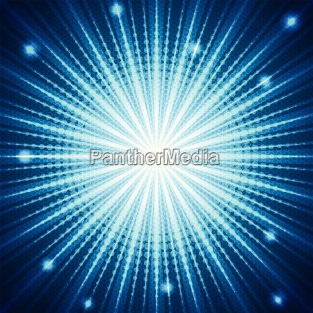 bursting blue halftone background
