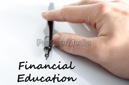 financial education text concept