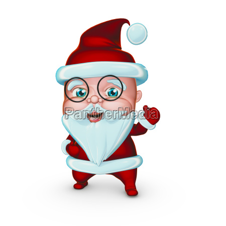 cute santa claus smiling with gifts