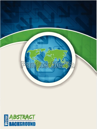 abstract blue green brochure with arrows
