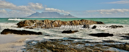 view over the sea table mountain