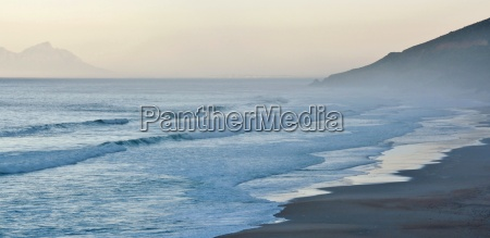morning mist over the beach