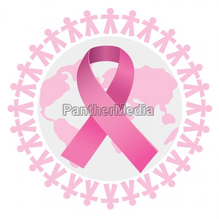 composite image of pink breast cancer