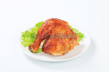 garlic roasted chicken leg