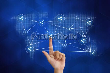 hand druecken anteil social networking