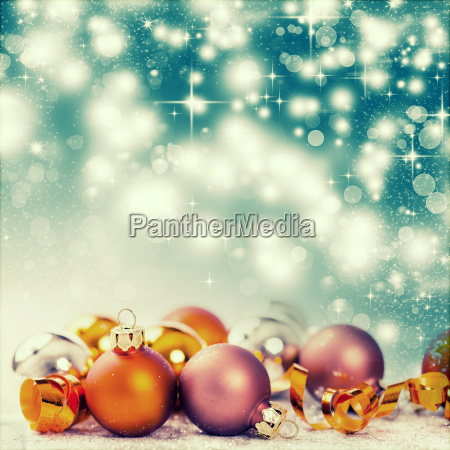 christmas decorations against holiday background